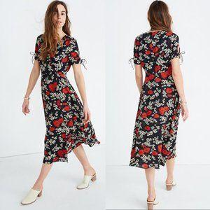 Madewell Floral Midi Dress Size 12